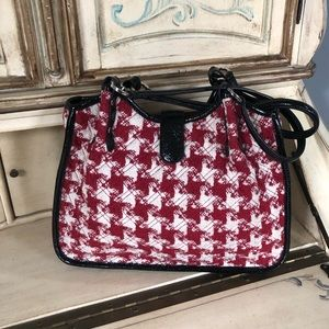 Vera Bradley Red and White Houndstooth Tote